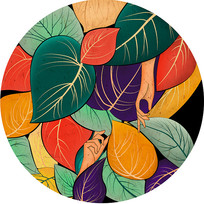原创元素手绘树叶背景元素 PSD
