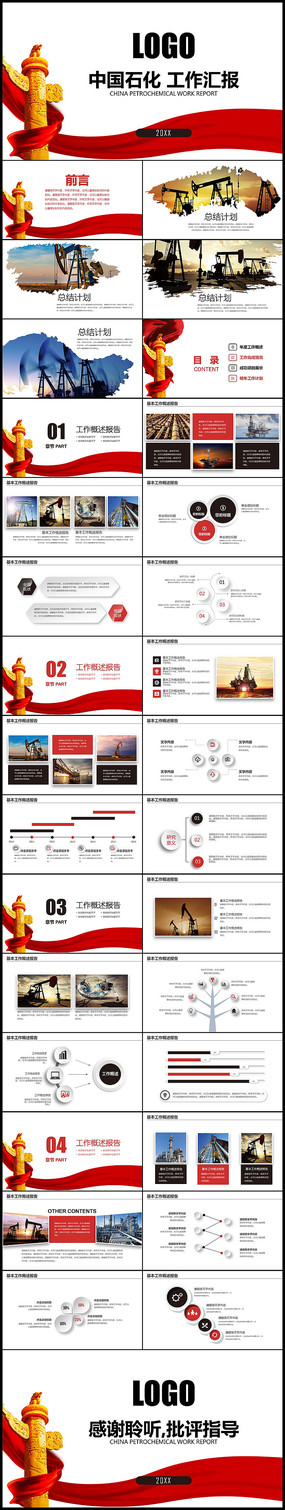 中国石化石油工作汇报PPT pptx