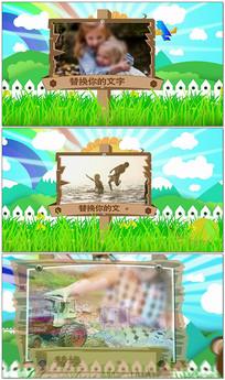 61六一儿童节小蜜蜂儿童相册AE视频模板