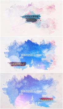 PR个性清新彩色水墨模板