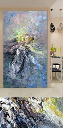 抽象艺术玄关山水画