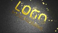 大气金色开场logo视频模板