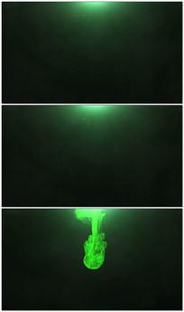 大气烟雾粒子LOGO视频模板