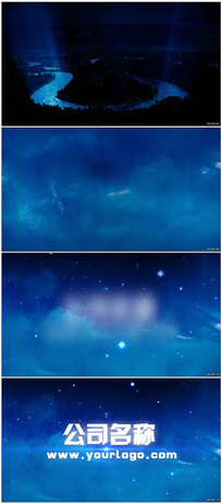 凤凰星空LOGO视频模板