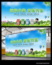 垃圾分类环保宣传展板