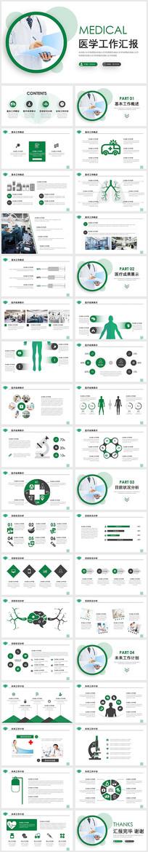 绿色医疗汇报总结报告PPT