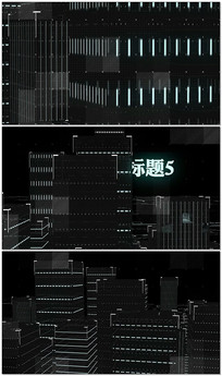 三维城市空间图文AE模板