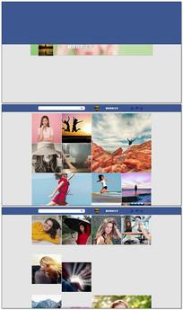 网站网页图文展示AE模板