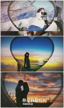 唯美婚礼爱情相册图文AE模板