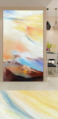 艺术抽象山水玄关背景墙