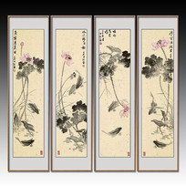 中国风荷花装饰画