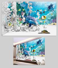 儿童房海底世界背景墙