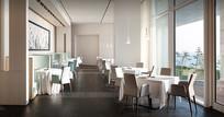 酒店白色餐饮空间