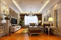 奢华家装客厅3D模型
