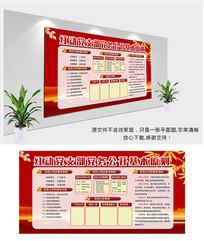 中国风党务公开栏展板