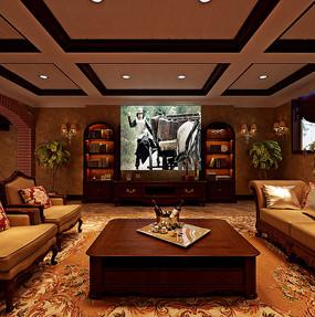 中式家庭影院3D模型