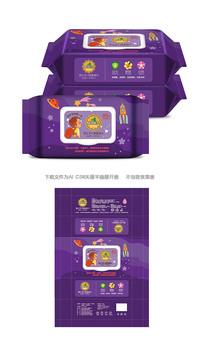 宝宝消毒湿巾包装设计