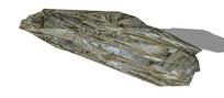 长条不规则岩石SU模型