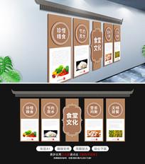 食品卫生安全文化食堂文化墙