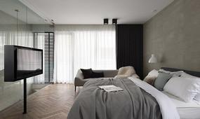 现代欧式风格的舒适卧室