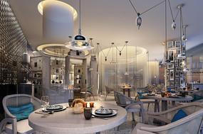 现代时尚小餐厅效果图