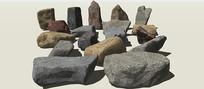 岩石景观SU模型