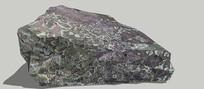 有图案的石头SU模型