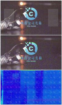 PR信号干扰LOGO片头视频模板