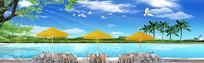 海边风景自然风光装饰画
