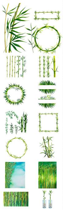 手绘竹子设计元素