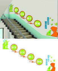 学校实验室楼梯文化墙