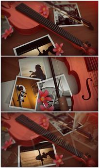 优雅小提琴相册视频模板