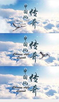 中国风云层穿梭AE片头模版