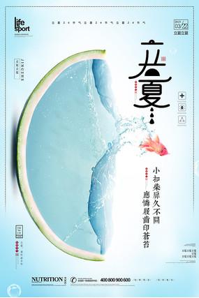 大气创意立夏24节气海报