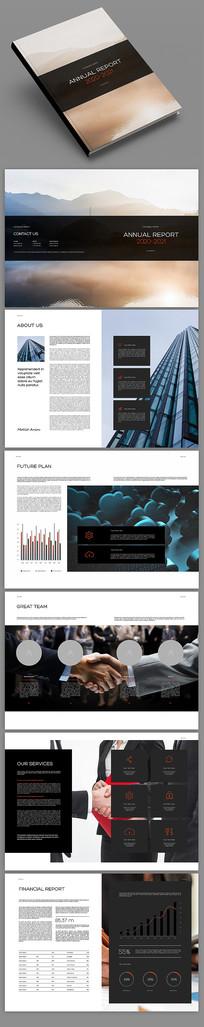 黑色商务企业宣传画册设计