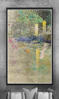玄关抽象画纹理油画