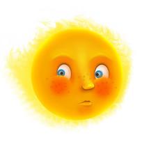 原创元素表情太阳