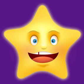 原创元素表情星星
