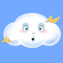 原创元素表情云朵