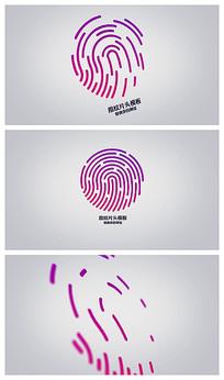 指纹两个版本logo片头视频模板