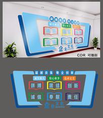 超越自我企业文化墙设计