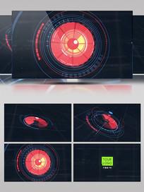 高科技感全息图形动画标识演绎AE视频模板