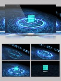 高科技感全息图形动画演绎标识AE视频模板