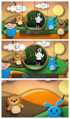卡通人物片头介绍AE模板