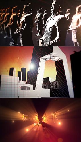震撼大气建筑大国崛起AE视频模板