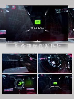 HUD科技标识演绎片头AE模板
