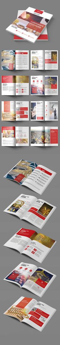 红色金融画册设计