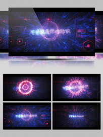 未来高科技全息图形标识动画AE模板