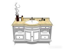 白色欧式洗手台