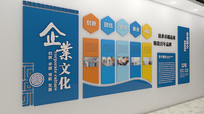 创意立体企业简介文化墙模板